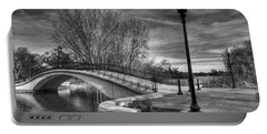 Portable Battery Charger featuring the photograph Winter's Bridge by Rodney Campbell