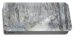 Portable Battery Charger featuring the painting Winter's Day by Robin Maria Pedrero