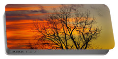 Winter's Scene Portable Battery Charger by Donald C Morgan