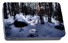 Portable Battery Charger featuring the photograph Winters Shadows by David Patterson