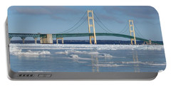 Wintery Bridge Portable Battery Charger