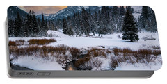 Wintery Wasatch Sunset Portable Battery Charger
