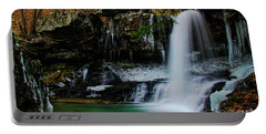 Wintery Waterfalls Crop Portable Battery Charger