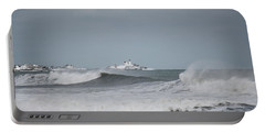 Wintery York Beach  Portable Battery Charger