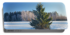 Wintry Fir Tree Portable Battery Charger