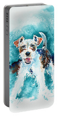 Wire Fox Terrier Portable Battery Charger