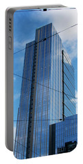 Portable Battery Charger featuring the photograph Wired In Seattle - Skyscraper Art Print by Jane Eleanor Nicholas