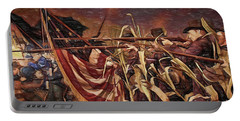 Wisconsin Black Hats At Antietam - Colored Pencil Portable Battery Charger