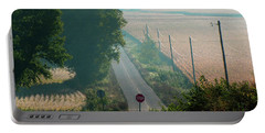 Wisconsin Rolling Hill Farmland Stop Sign Portable Battery Charger