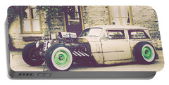 Portable Battery Charger featuring the photograph Wisconsin State Journal Ratrod by Joel Witmeyer