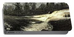 Wiscoy Creek Falls Portable Battery Charger by Richard Engelbrecht