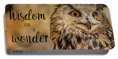Wisdom Begins In Wonder Portable Battery Charger