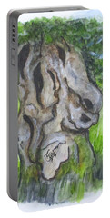 Portable Battery Charger featuring the painting Wisdom Olive Tree by Clyde J Kell
