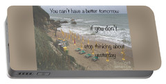Wisdom Quote -tomorrow Yesterday Portable Battery Charger