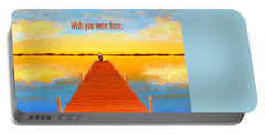 Wish - Pier - Greeting Card Portable Battery Charger