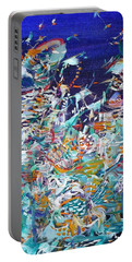 Portable Battery Charger featuring the painting Wishes by Fabrizio Cassetta