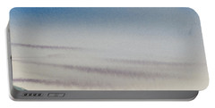 Portable Battery Charger featuring the painting Wisps Of Clouds At Sunset Over A Calm Bay by Dorothy Darden