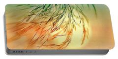 Wispy Sunset-0 Portable Battery Charger by Nina Bradica