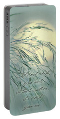 Wispy Sunset-5 Portable Battery Charger by Nina Bradica