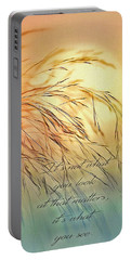 Wispy Sunset-7 Portable Battery Charger by Nina Bradica