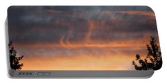 Wispy Sunset Portable Battery Charger