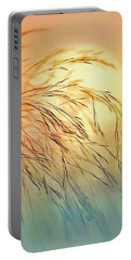 Wispy Sunset Portable Battery Charger by Nina Bradica