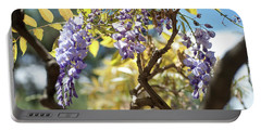 Portable Battery Charger featuring the photograph Wisteria Branches by Jenny Rainbow