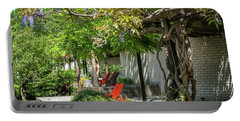 Portable Battery Charger featuring the photograph Wisteria Shadow. Wisteria Shadow. Botanical Garden Mendelu by Jenny Rainbow