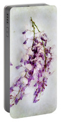 Wisteria Still Life Portable Battery Charger by Louise Kumpf