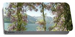 Wisteria Trellis Lago Di Como Portable Battery Charger by Brooke T Ryan