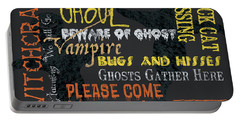 Witchcraft Typography Portable Battery Charger