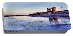 Withernsea Sunset And Moon Portable Battery Charger