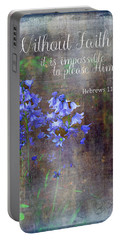 Portable Battery Charger featuring the photograph Without Faith by Larry Bishop