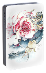 Portable Battery Charger featuring the painting Without Fear Of The Storm by Anna Ewa Miarczynska