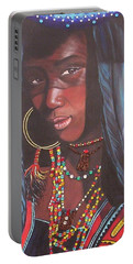Blue Cat Productions             Wodaabe Girl Portable Battery Charger