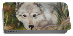 Wolf Among Foxtails Portable Battery Charger