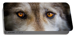 Portable Battery Charger featuring the photograph Wolf Eyes by Teri Virbickis