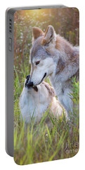 Wolf Soul Mates Portable Battery Charger