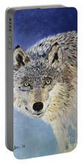 Wolf Study Portable Battery Charger