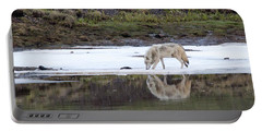 Wolflection Portable Battery Charger by Steve Stuller