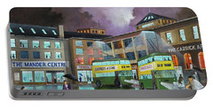 Portable Battery Charger featuring the painting Wolverhampton Trolley Bus Terminus by Ken Wood
