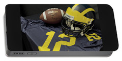 Wolverine Helmet With Football And Jersey Portable Battery Charger