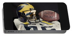 Wolverine Helmet With Jersey And Football Portable Battery Charger