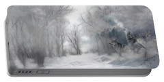 Wolves In The Mist Portable Battery Charger