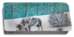 Wolves In The Wild Portable Battery Charger