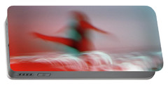 Woman Dancing In Flying Stance Portable Battery Charger