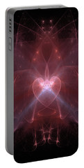 Woman Heart Aglow Portable Battery Charger
