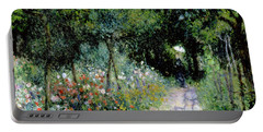 Woman In A Garden Portable Battery Charger