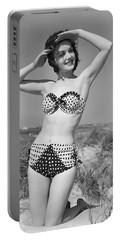 Woman In Bikini, C.1950s Portable Battery Charger
