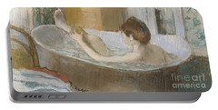 Woman In Her Bath Portable Battery Charger